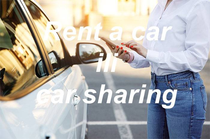 Rent a car ili car sharing?